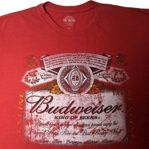 Budweiser T Shirt Distressed